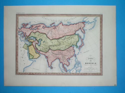 1846 ORIGINAL MAP ASIA CHINA ARABIA KOREA INDIA MALAYSIA SIAM JAPAN PERSIA OMAN
