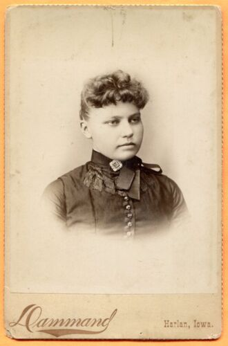 Harlan, IA, Portrait of a Young Woman, by Dammand, circa 1880s