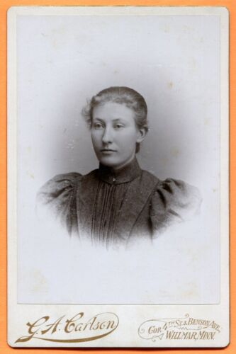 Willmar, MN, Portrait of a Young Woman, by Carlson, circa 1890s