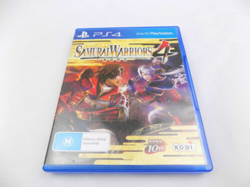 Mint Disc Playstation 4 Ps4 Samurai Warriors 4 IV Free Postage