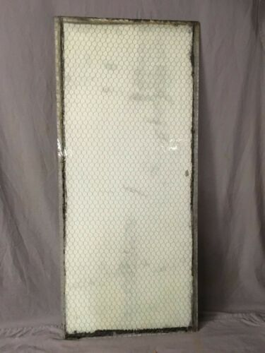 1 Piece Vintage 24X54 Industrial Chicken Wire Safety Security Glass Old 413-19E