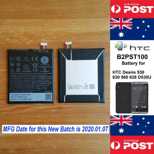 GENUINE HTC Desire 530 630 650 628 D530u Battery B2PST100 2200mAh - Local Seller