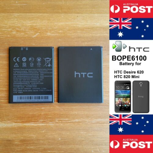 GENUINE HTC Desire 620 / HTC 820 Mini  Battery  BOPE6100  2100mAh - Local Seller
