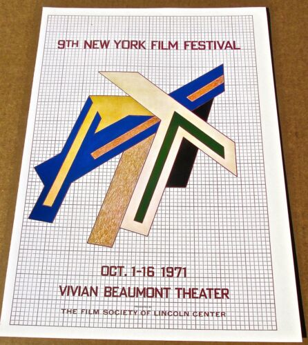 Frank Stella Mini-Poster for Ninth New York Film Festival 16X11 LC