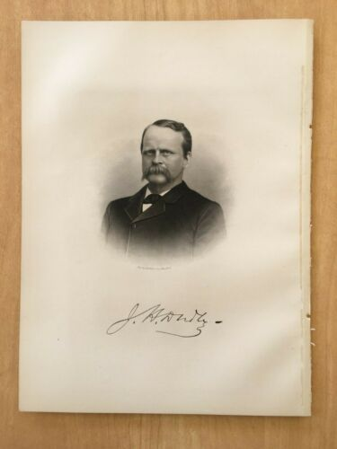 Antique Print 1908 Engraving JASON HENRY DUDLEY Hanover, NH New Hampshire