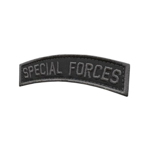 SF Special Forces SOF Tab blackout subdued Green Berets US parche fastener patchParches - 4725