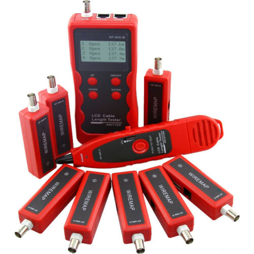 NF868W DOSS Cable Tester With 8 Remote Id Locate Fault Rj11 Rj45 BNC USB 8