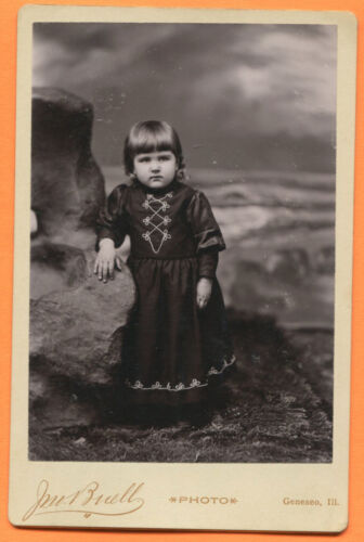 Geneseo, IL, Portrait of a Little Girl, by Buell, circa 1890s