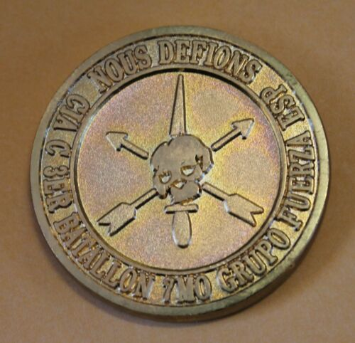 7th Special Forces Group Airborne 3rd Battalion C Co Army Challenge CoinOriginal Period Items - 13983