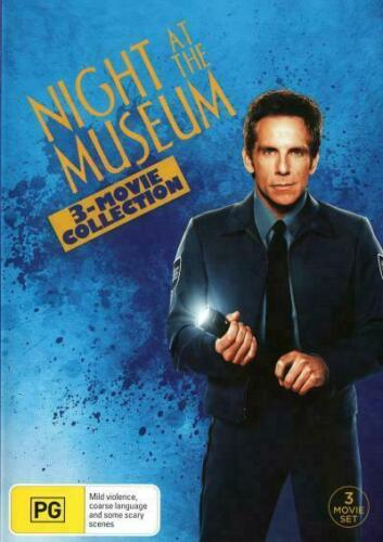 Night At The Museum 1, 2 & 3 DVD Battle of The Smithsonian Secret of the Tomb