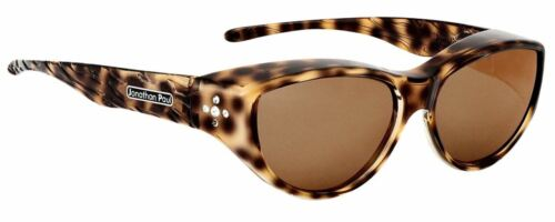 Jonathan Paul Fitovers Occhiali Medio Chic Kitty IN Marrone Ghepardo & CK002S
