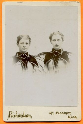Mount Pleasant, MI, Portrait of 2 Young Women, by Richardson, circa 1890s