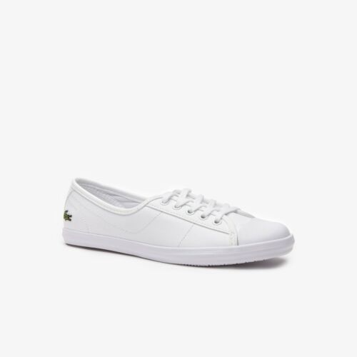 Womens Lacoste Ziane Bl Leather Trainers In White <br/> BUY 1, GET 1 AT 10% OFF (add 2 to basket)