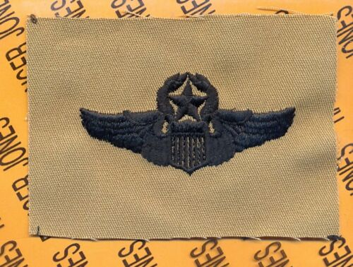 USAF Air Force Master Command Pilot Aviation desert Black wing cloth patchArmy - 66529