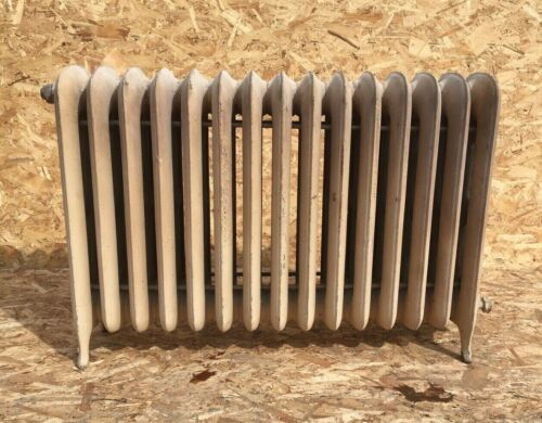 Antique Hot Water Radiator 15 Sections Cast 26x37x9 Iron Old Heating Vtg 115-20E