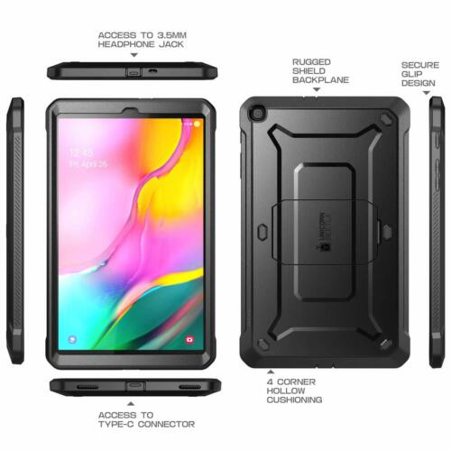 CASE For Galaxy Tab A 10.1 (2019 Release) w/Built-in Screen Protector Heavy Duty