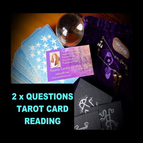 2 x QUESTION TAROT CARD READING OVER THE PHONE  Wicca Witch Pagan