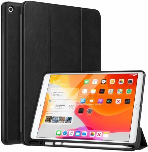 CASE for iPad 10.2 2019,7th Gen With Apple Pencil Holder, Slim Lightweight Cover