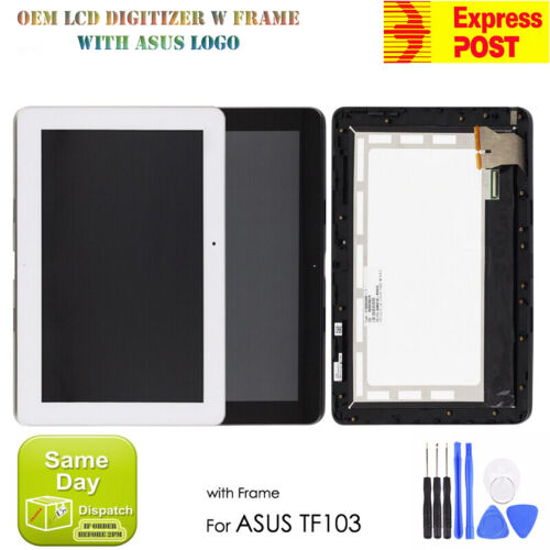 ASUS TRANSFORMER PAD 10.1'' TF103C LCD DISPLAY+TOUCH SCREEN DIGITIZER W FRAME