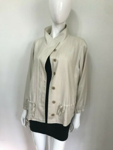 F LINE By Feathers Beige Latte Anorak Style Jacket Size S