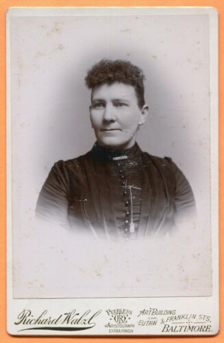 Baltimore, MD, Portrait of a Young Woman, by Walzl, circa 1890