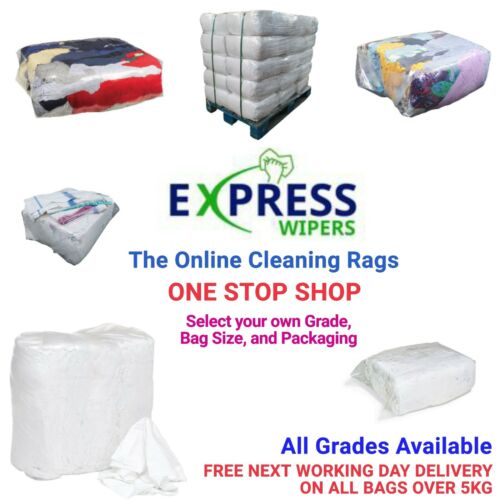 Cleaning Rags / Wipers / Cloths - ONE STOP SHOP - Select Your Grade & Bag Size <br/> Wiping Rags For Any Application, Free & Fast Delivery