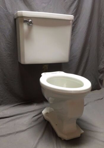Antique Ceramic White Porcelain Douglas Leader Toilet Tank Vtg Complete 171-20E