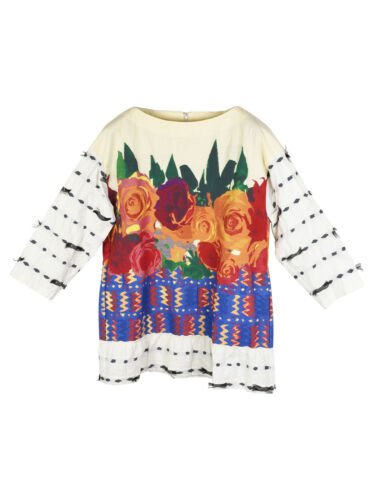 Issey Miyake Haat Floral Embroidered Cotton Top
