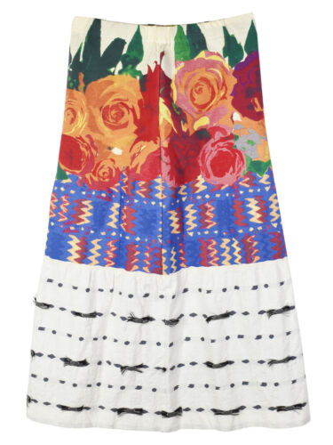 Issey Miyake HaaT Floral Embroidered Long Skirt