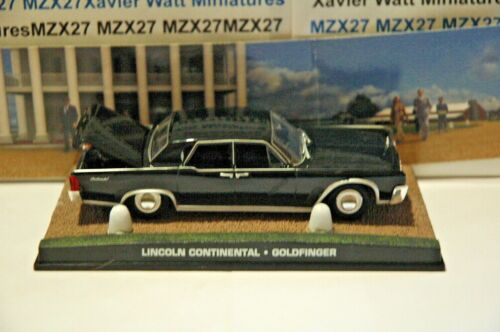 VOITURE JAMES BOND 007 N°48  LINCOLN Continental Goldfinger 1/43 IXO