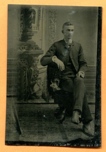 Portrait of a Young Man, circa 1880s Antique Tintype