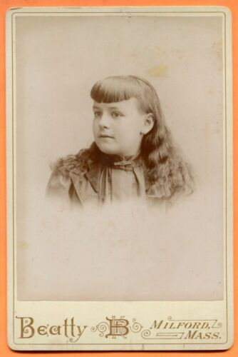 Milford, MA, Portrait of a Girl, by Beatty, circa 1890s