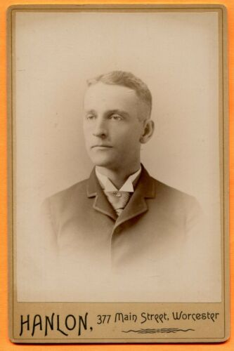 Worcester, MA, Portrait of a Young Man, by Hanlon, circa 1890