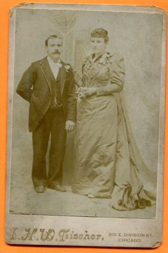 Chicago, IL, Wedding Portrait, ID'd, by Fischer, circa 1890s