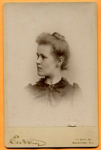 Rockford, IL, Portrait of a Young Woman, by Erikson, circa 1890