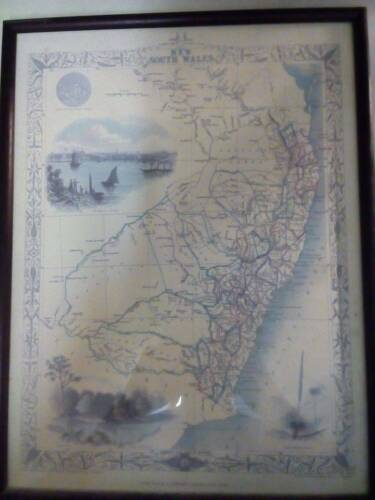 Antique Map of New South Wales From 1850