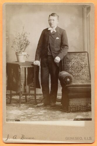 Geneseo, IL, Portrait of a Young Man, by Brown, circa 1890