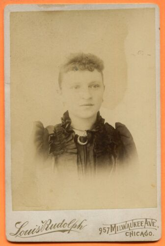 Chicago, IL, Portrait of a Young Woman, by Rudolph, circa 1890s