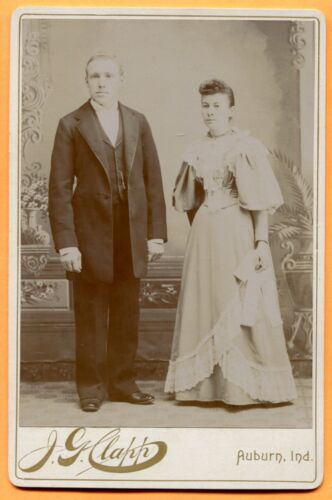 Auburn, IN, Portrait of a Couple, by Clapp, circa 1890s