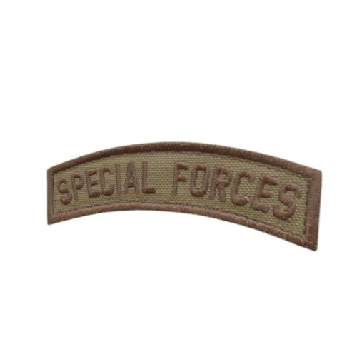 Special Forces SF SOF Tab coyote tan Green Berets tactical parche fastener patchParches - 4725