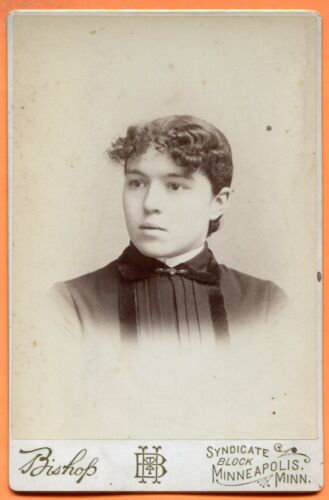 Minneapolis, MN, Portrait of a Young Woman, by Bishop, circa 1880s