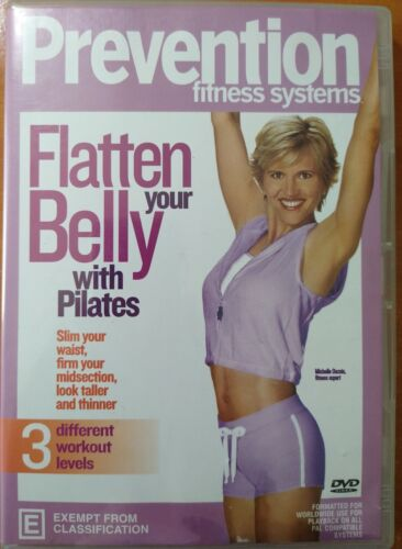 Prevention Fitness Systems Flatten Your Belly with Pilates DVD - Very Good Cond