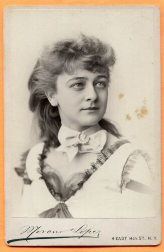 New York, NY, Portrait of Charlotte Crabtree, by Moreno & Lopez, circa 1887