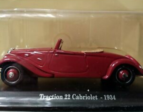 VOITURE DE COLLECTION - CITROËN TRACTION 22 CABRIOLET 1934 / ATLAS, 1/43""