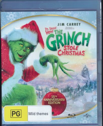 Dr Seuss How the Grinch Stole Christmas Blu-Ray Movie FREE POSTAGE!