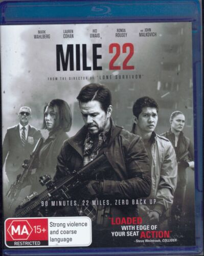 Mile 22 Blu-Ray Movie FREE POSTAGE!