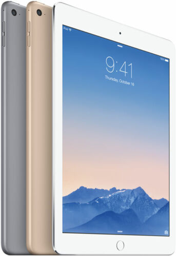 APPLE iPAD AIR 2 128GB 64GB 32GB 16 BLACK GOLD UNLOCKED WIFI + CELLULAR AU STOCK