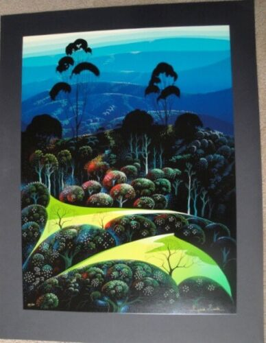 """Eyvind Earle  """"Inland From The Sea 1991""""   S/N Serigraph"""