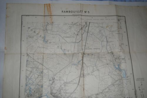 ANCIENNE CARTE MAP TOURIST FRENCH  52 X 72 CM  RAMBOUILLET  N°5 1 / 20.000