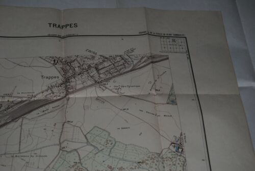 ANCIENNE CARTE MAP TOURIST FRENCH  53 X 69 CM  TRAPPES 78 1 / 10.000